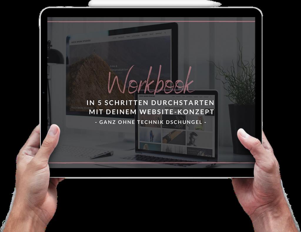 Pixxel House Workbook für dein Website Konzept
