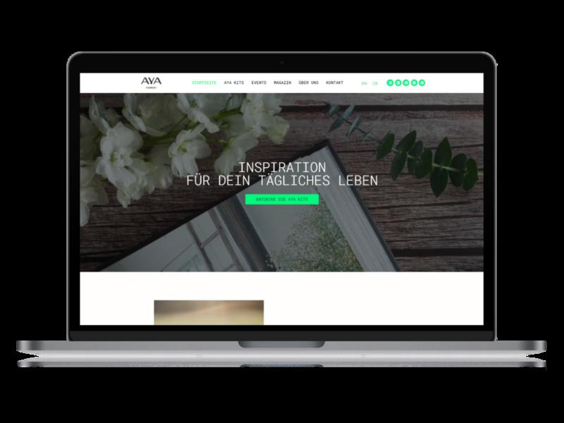 Vorschau Desktop Aya Farmery Portfolio